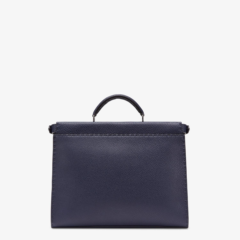 FENDI PEEKABOO ICONIC FIT - Blue leather bag - view 3 detail