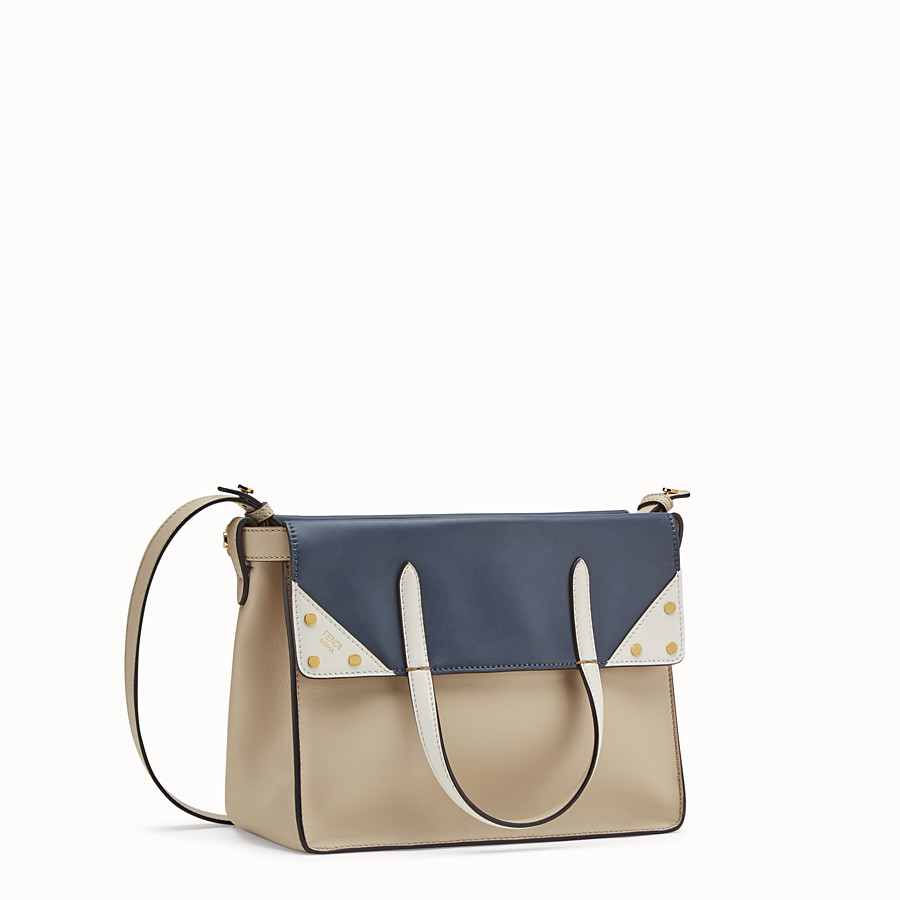 FENDI FENDI FLIP MEDIUM - Beige leather bag - view 4 detail