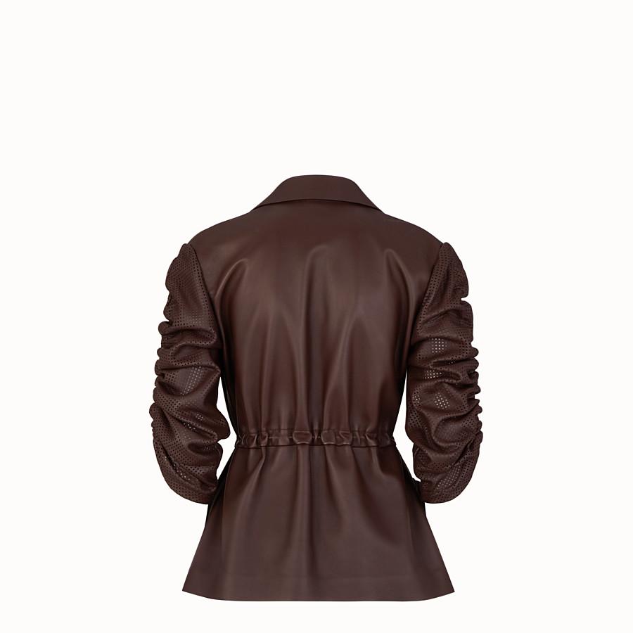FENDI GIACCA - Giacca in nappa marrone - vista 2 dettaglio