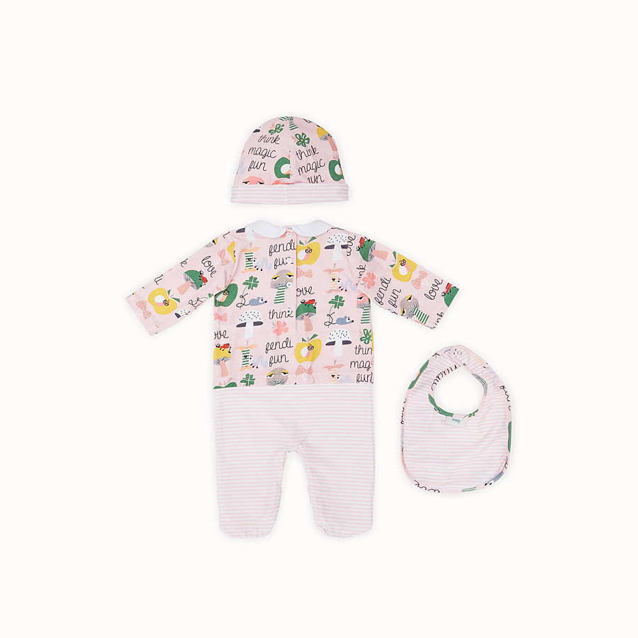 FENDI BABY BUNX KIT - Printed and multicolor cotton Baby Girl Kit - view 2 detail