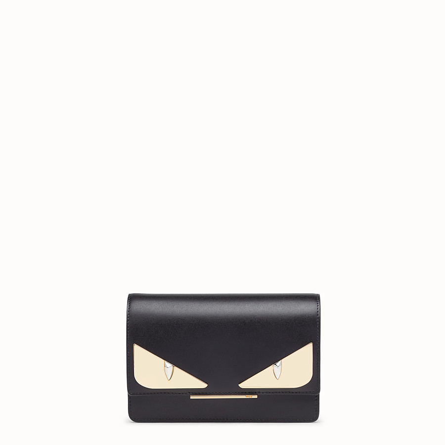 FENDI WALLET ON CHAIN - Minibag in pelle nera - vista 1 dettaglio