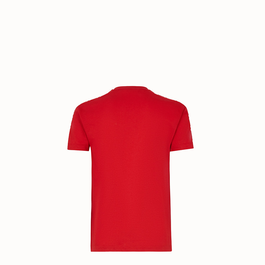 FENDI T-SHIRT - Red jersey T-shirt - view 2 detail