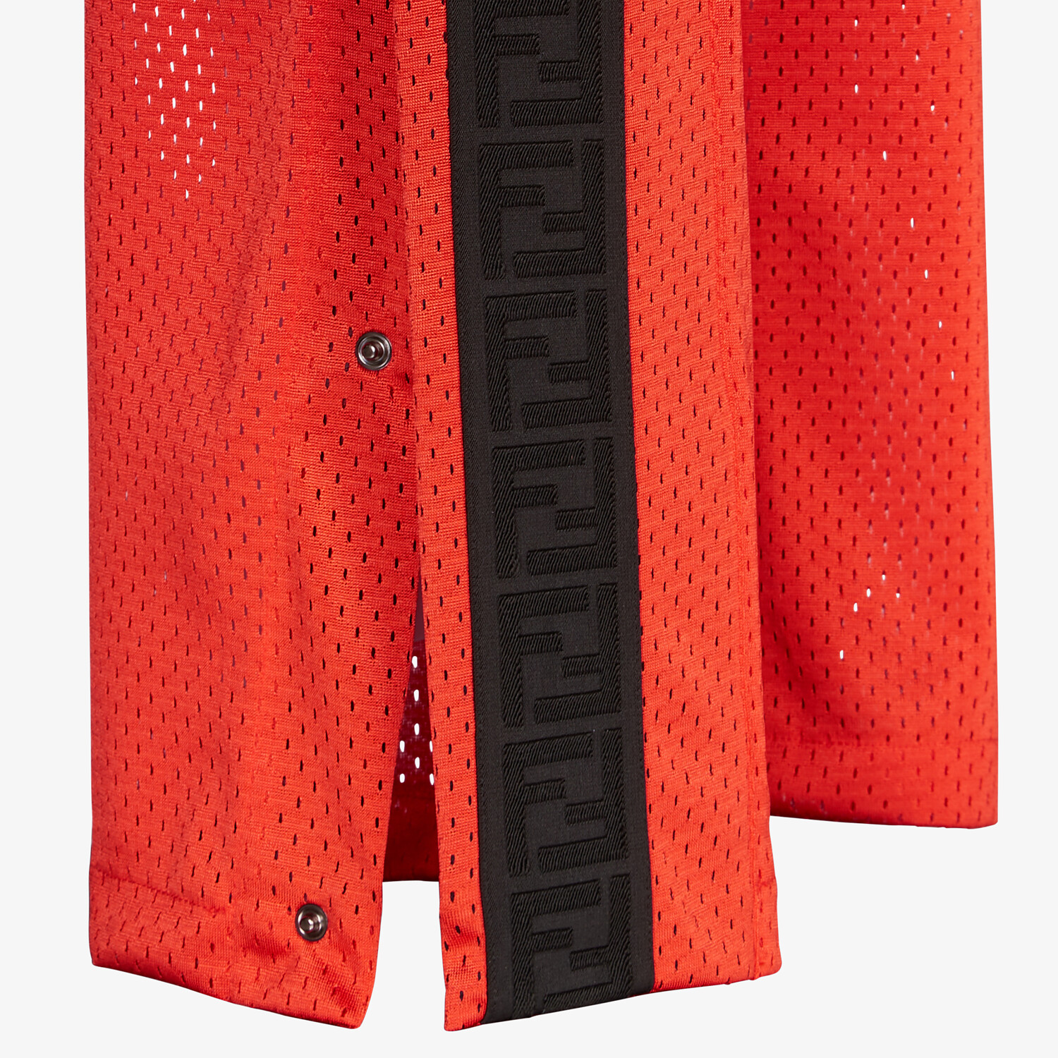 FENDI PANTS - Red tech mesh pants - view 3 detail