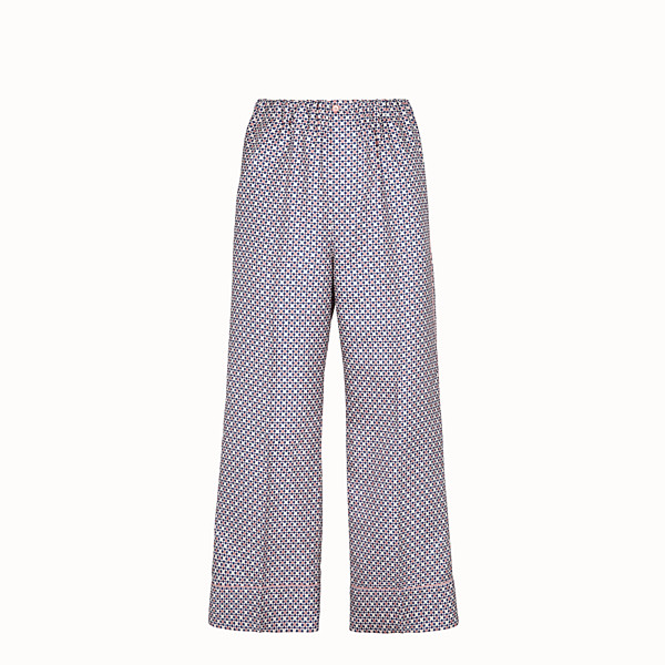 FENDI TROUSERS - Multicolour silk trousers - view 1 small thumbnail