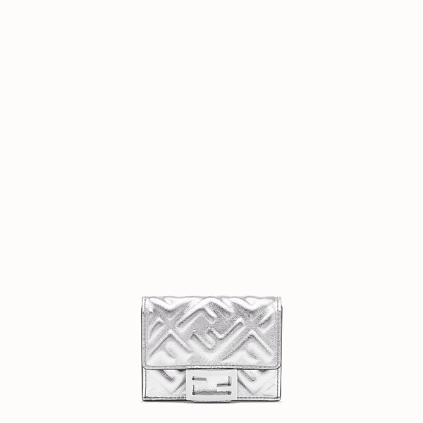 FENDI MICRO TRIFOLD - Silver leather wallet - view 1 small thumbnail