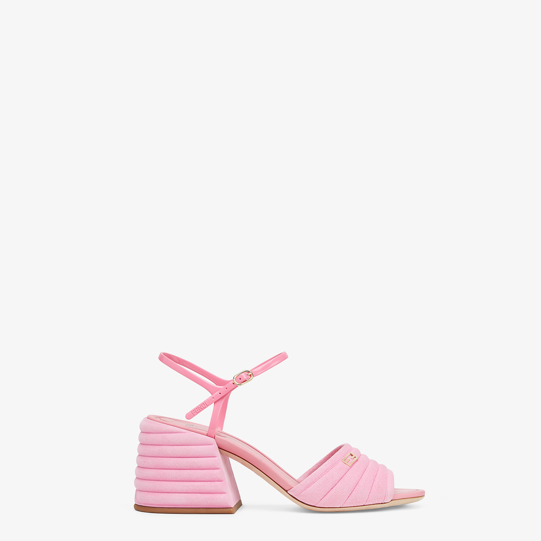 FENDI SANDALS - Pink suede Promenades - view 1 detail
