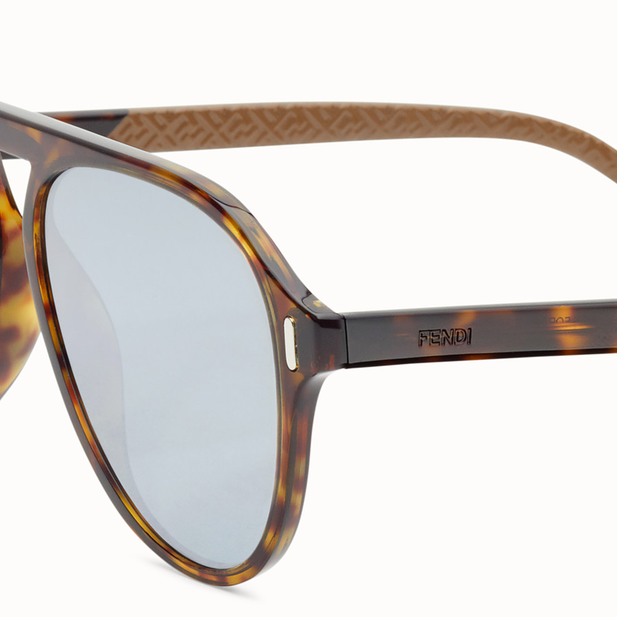 FENDI FENDI - Havana and beige sunglasses - view 3 detail