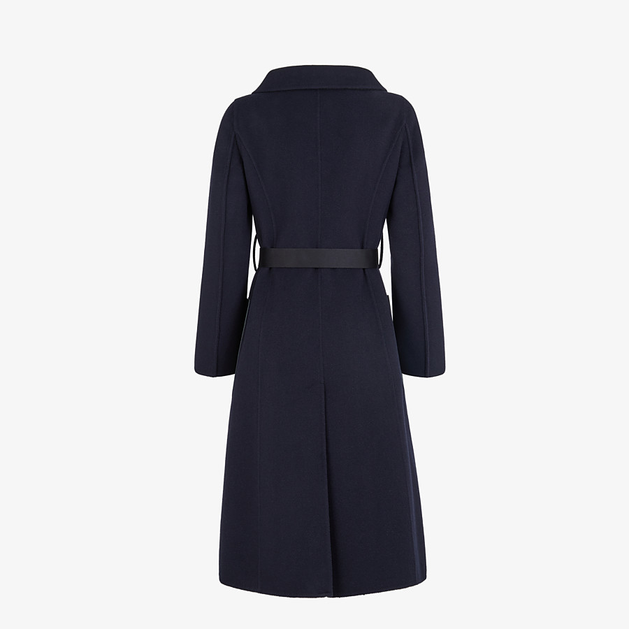 FENDI OVERCOAT - Blue cashmere overcoat - view 2 detail