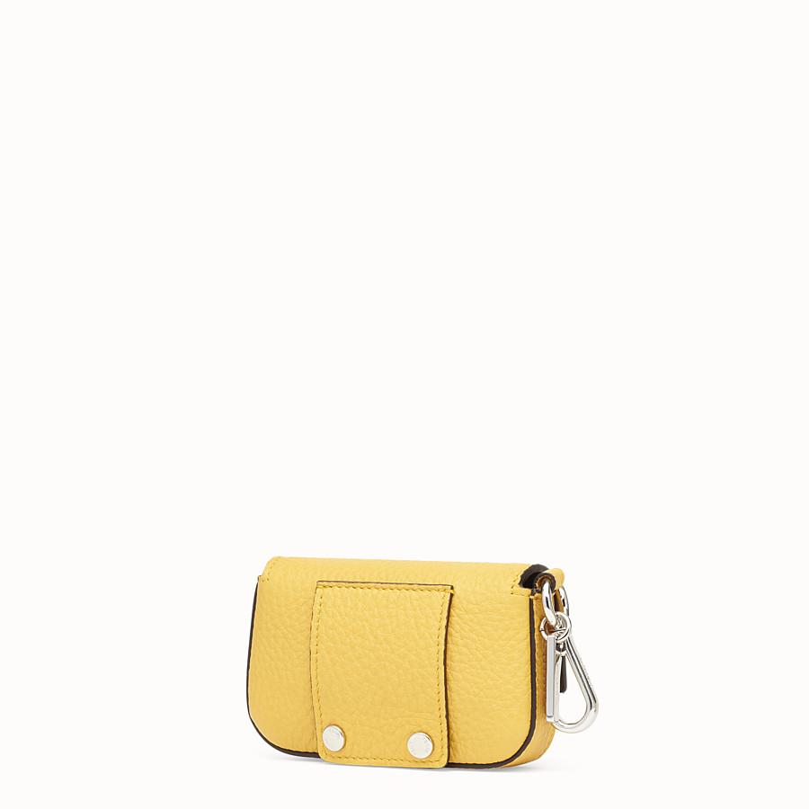 FENDI NANO BAGUETTE CHARM - Yellow leather charm - view 2 detail