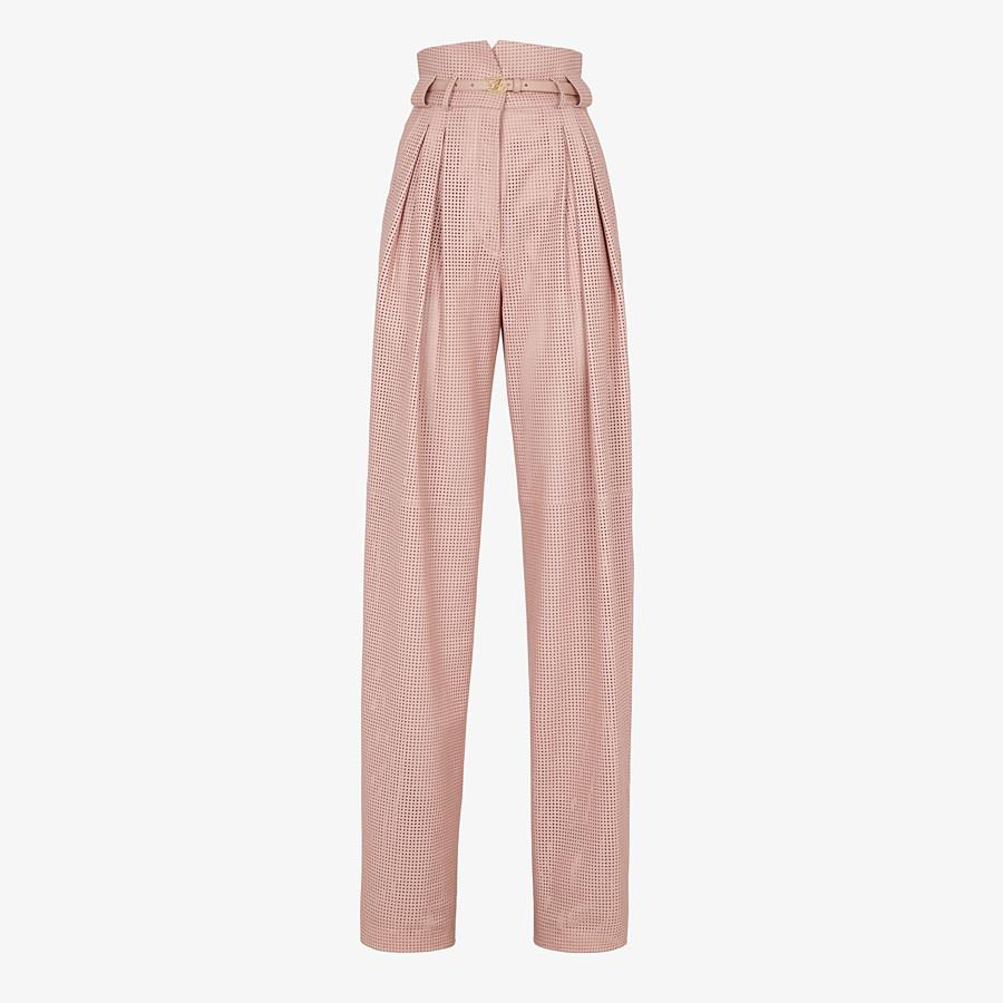 FENDI PANTS - Pink leather pants - view 1 detail