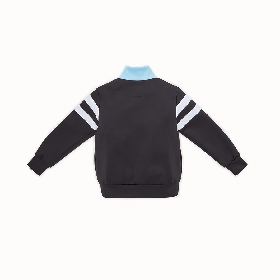 FENDI SWEATSHIRT - Light-blue and black scuba sweatshirt - view 2 detail