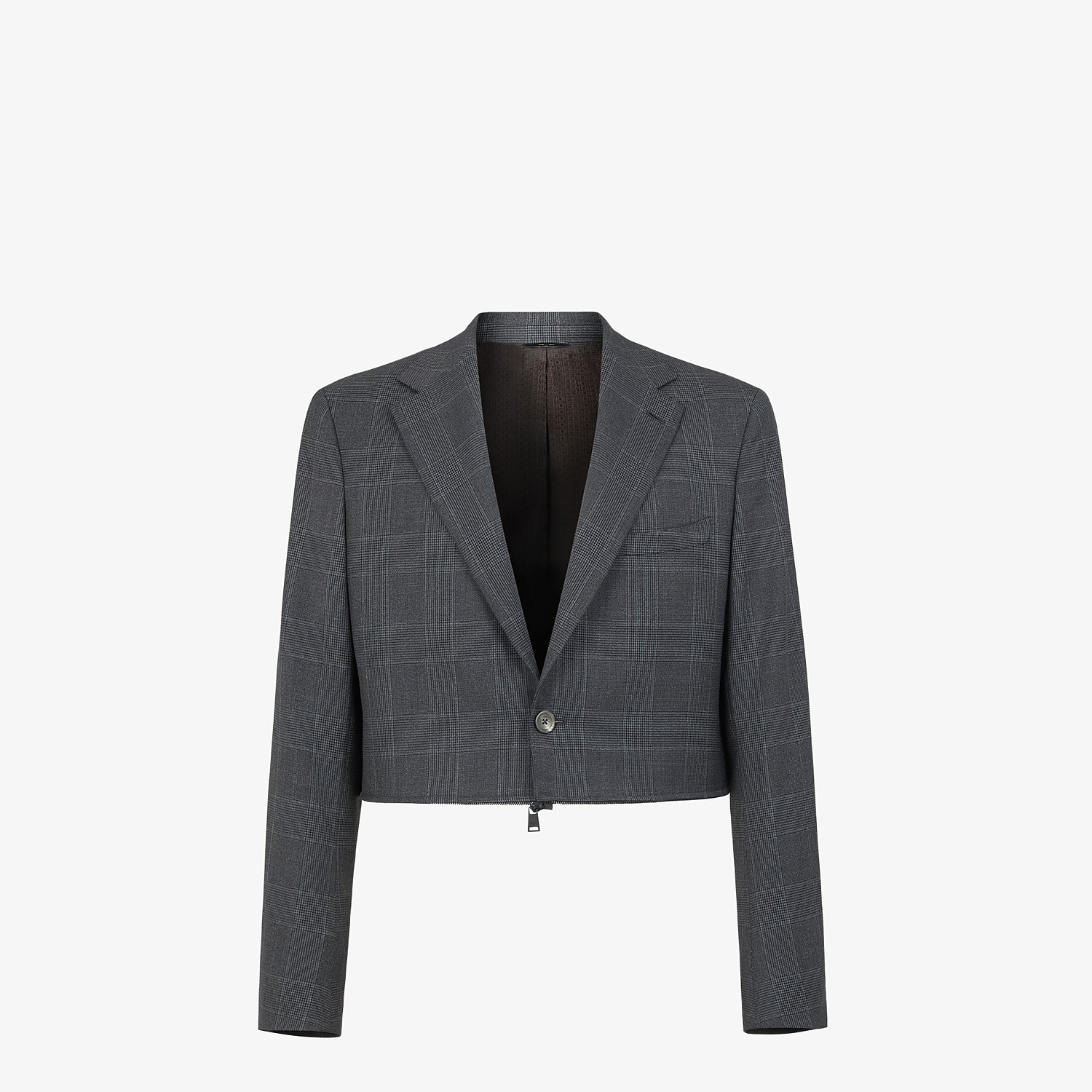 FENDI JACKET - Multicolour Prince of Wales check blazer - view 6 detail