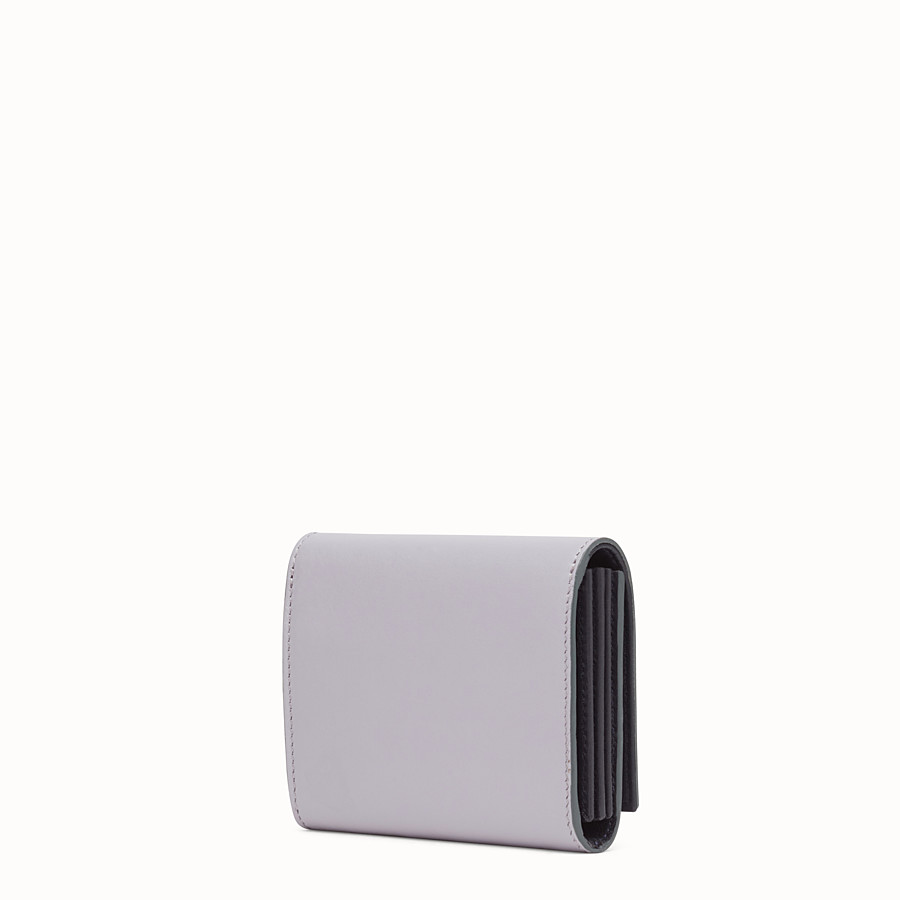 FENDI CARD HOLDER - Mini wallet in grey leather - view 2 detail