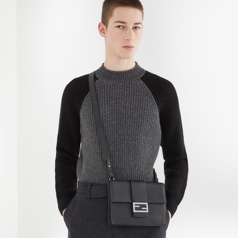 FENDI FLAT BAGUETTE - Black leather bag - view 6 detail
