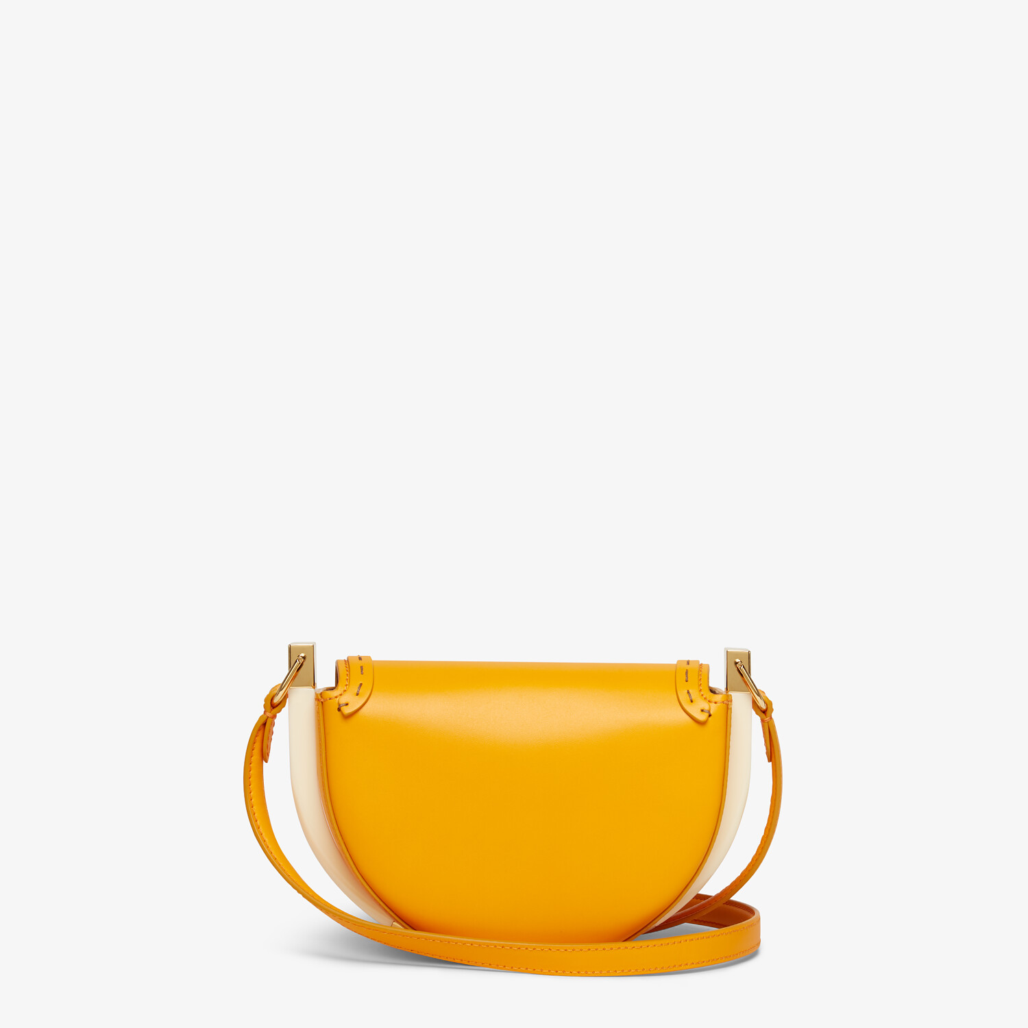 FENDI MOONLIGHT - Orange leather bag - view 4 detail