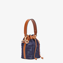 FENDI MON TRESOR - Mini-Tasche aus Jeansstoff in Blau - view 3 thumbnail