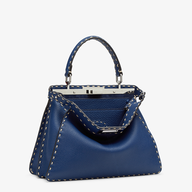 FENDI PEEKABOO ISEEU MEDIUM - Blue full grain leather bag - view 4 detail