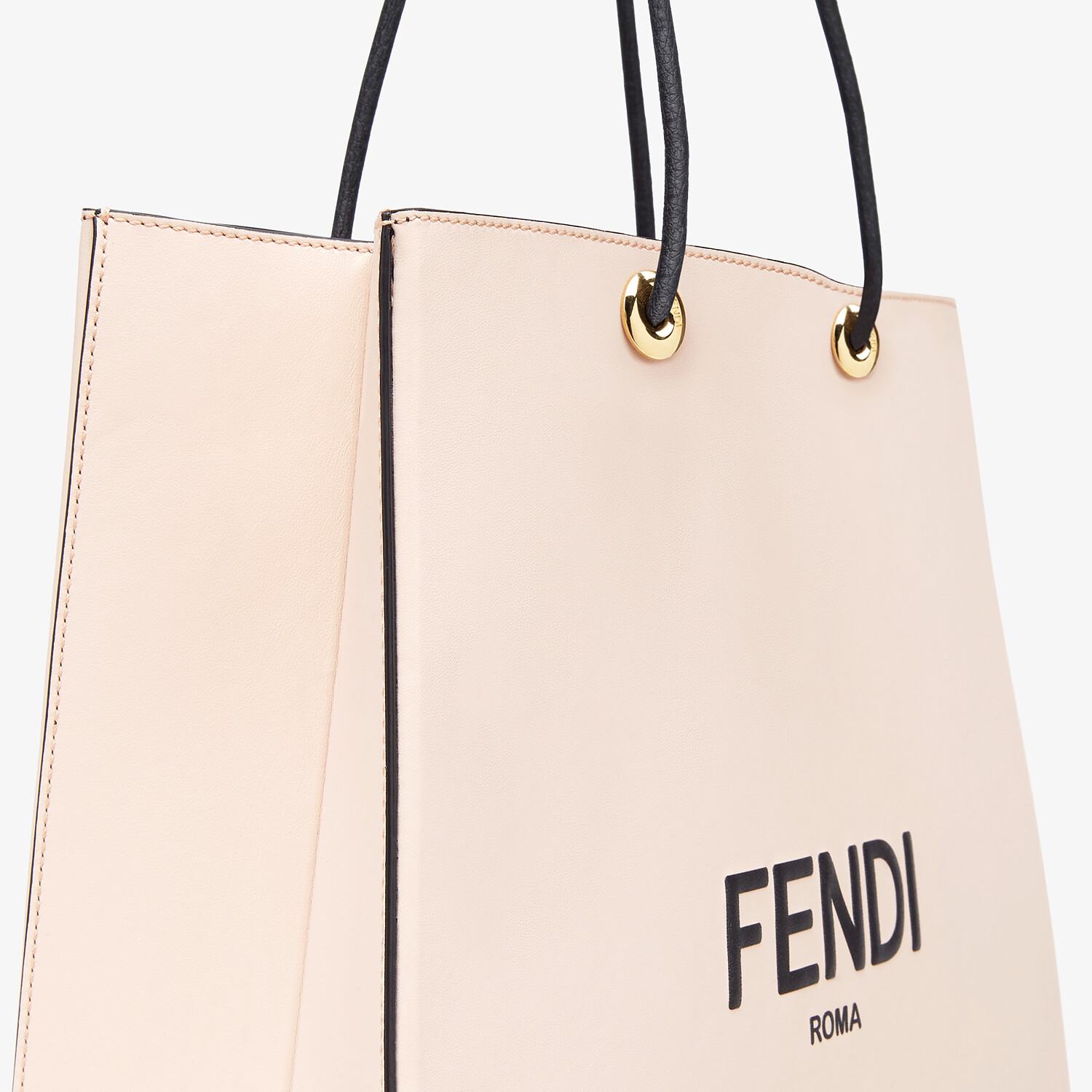 FENDI FENDI PACK MEDIUM SHOPPING BAG - Pink leather bag - view 5 detail
