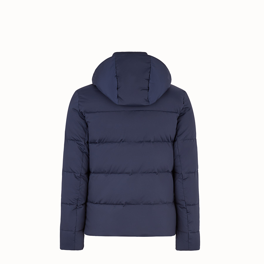 FENDI DOWN JACKET - Blue nylon down jacket - view 2 detail