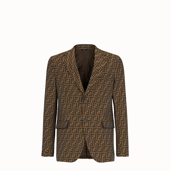 FENDI JACKET - Brown fabric blazer - view 1 small thumbnail