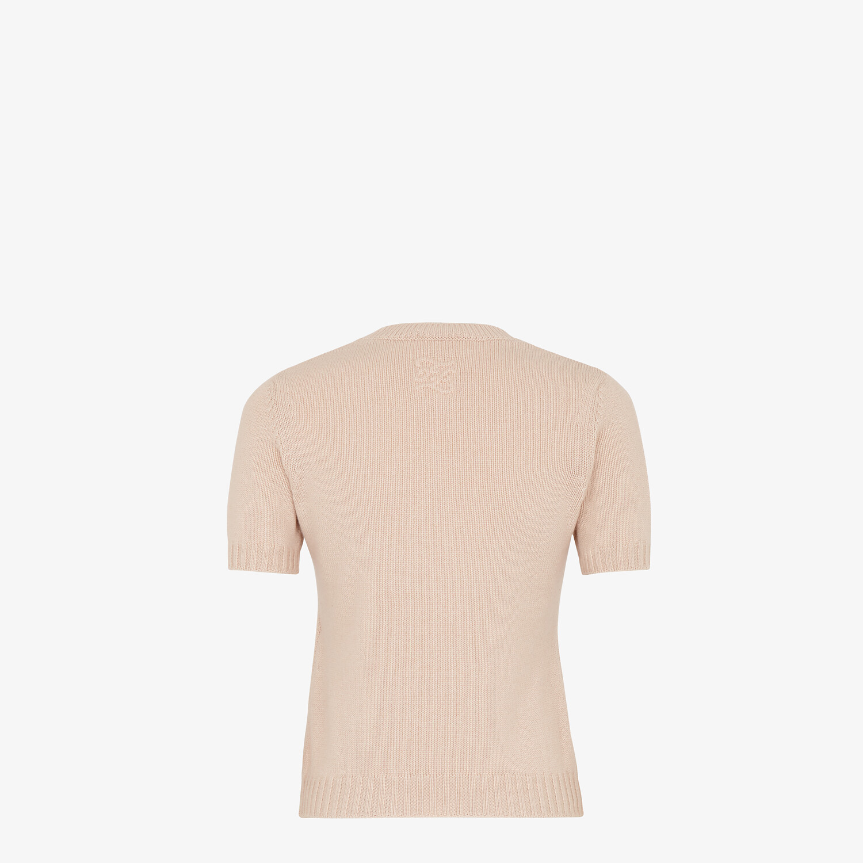 FENDI PULLOVER - Pink cashmere jumper - view 2 detail