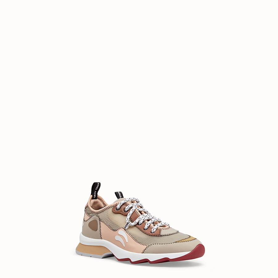 FENDI SNEAKERS - Beige technical mesh sneakers - view 2 detail
