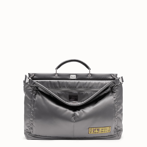 FENDI PEEKABOO FENDI AND PORTER MEDIUM - Sac en nylon argenté - view 1 small thumbnail