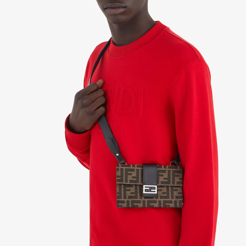FENDI SWEATSHIRT - Red jersey sweatshirt - view 4 detail