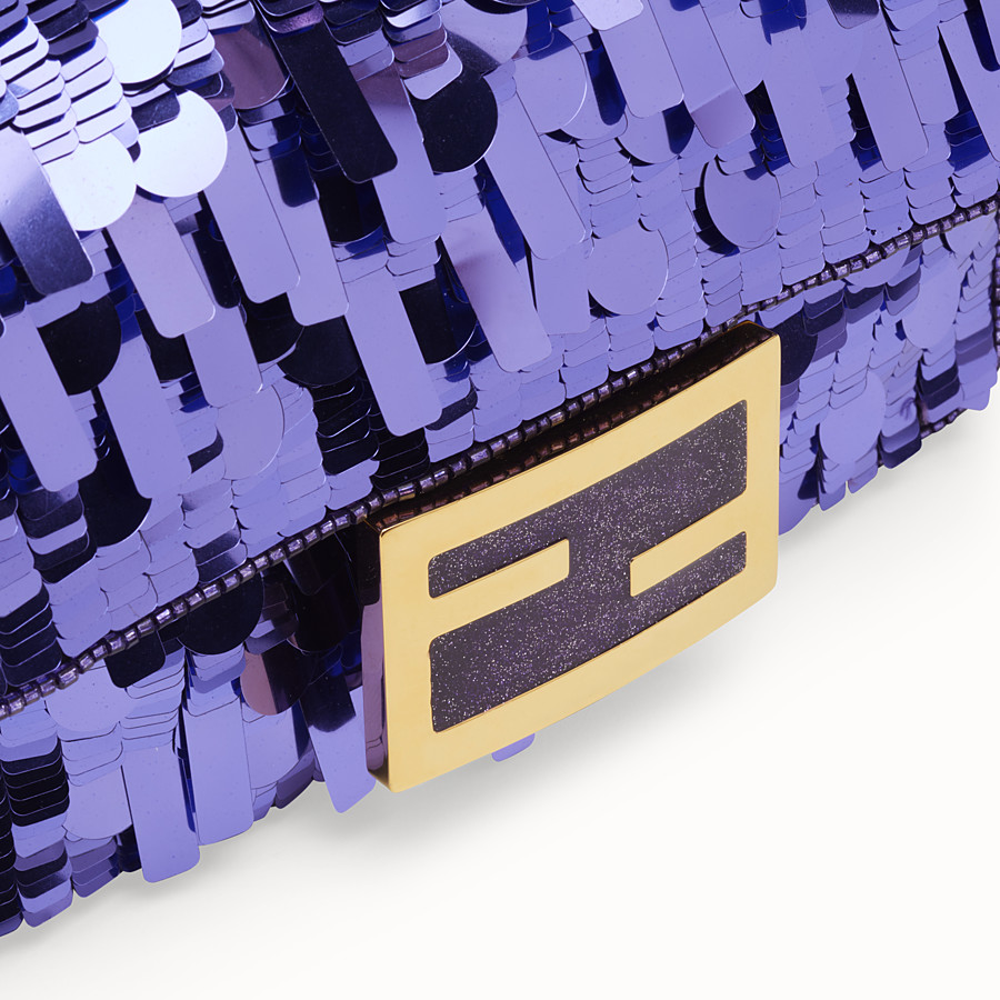 FENDI MINI BAGUETTE - Purple sequin minibag - view 6 detail