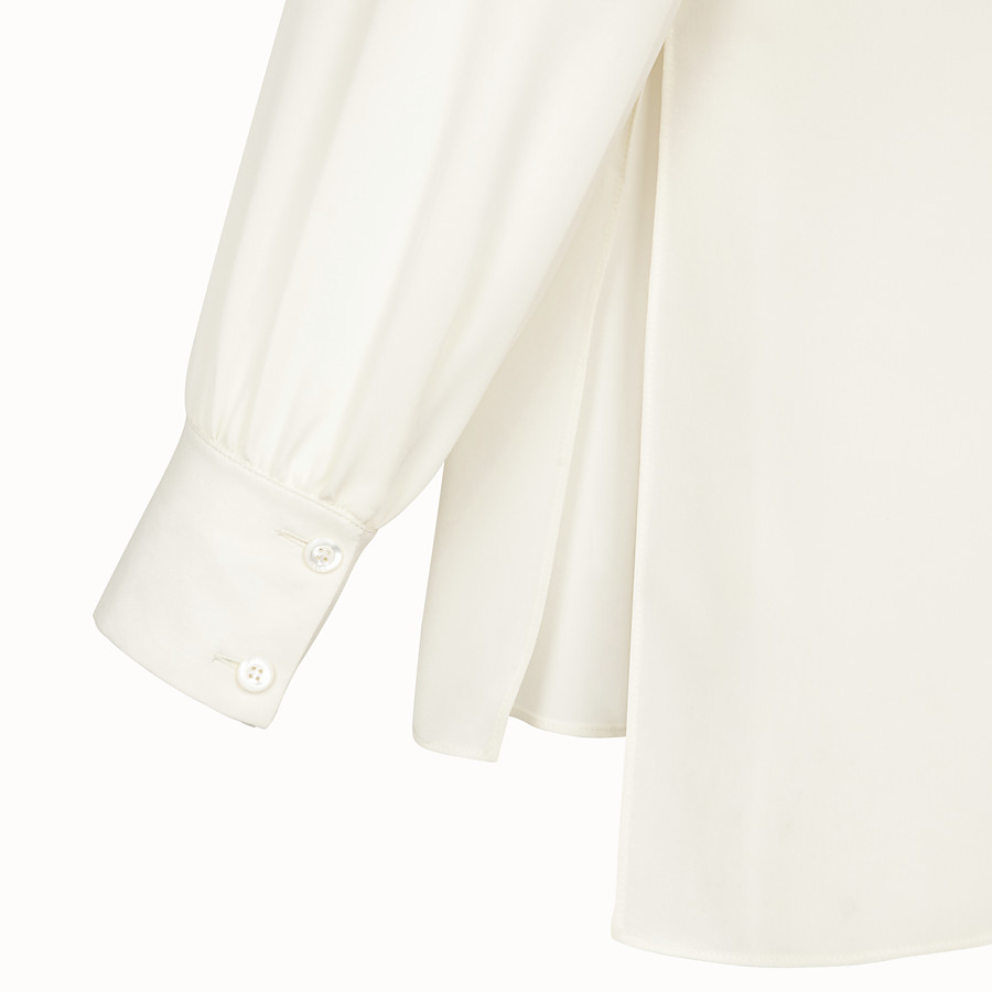 FENDI SHIRT - White crêpe de Chine blouse - view 3 detail