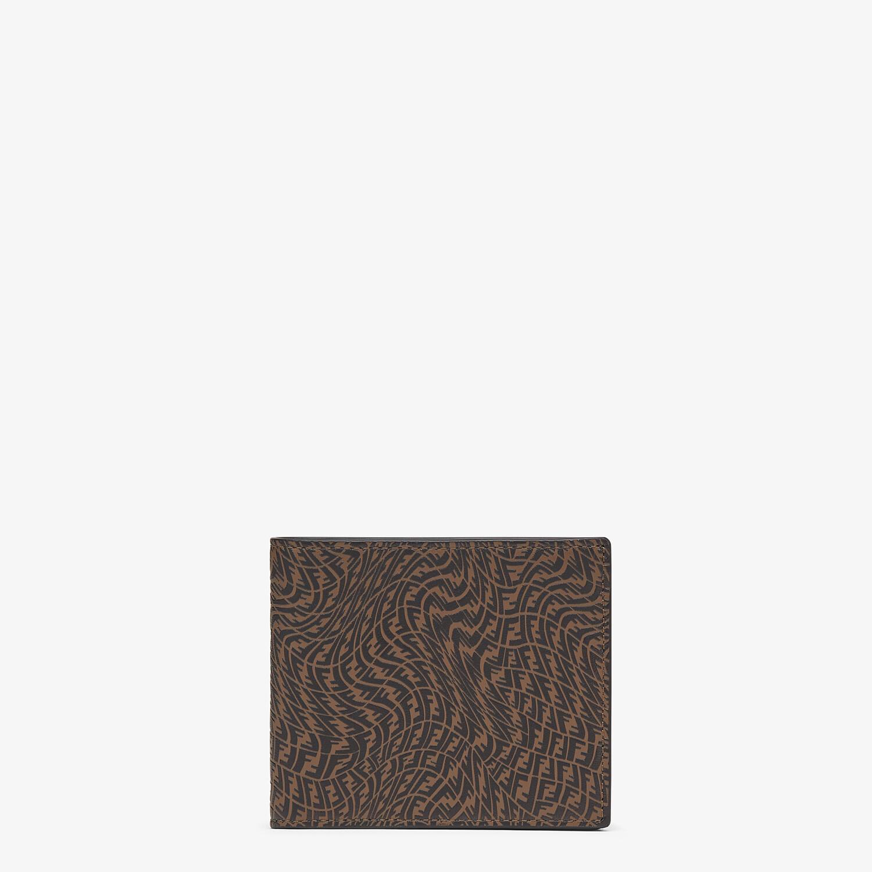 FENDI 皮夾 - 棕色皮革雙折皮夾 - view 1 detail