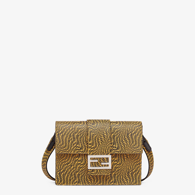 FENDI FLAT BAGUETTE - Yellow leather bag - view 1 detail