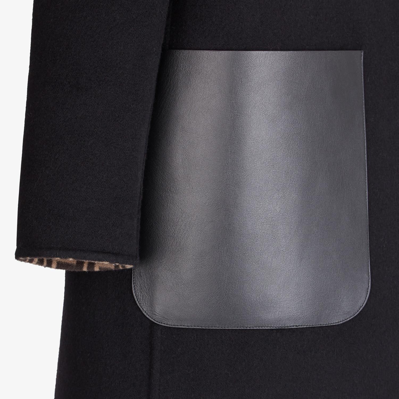 FENDI CAPPOTTO - Cappotto in lana nera - vista 3 dettaglio