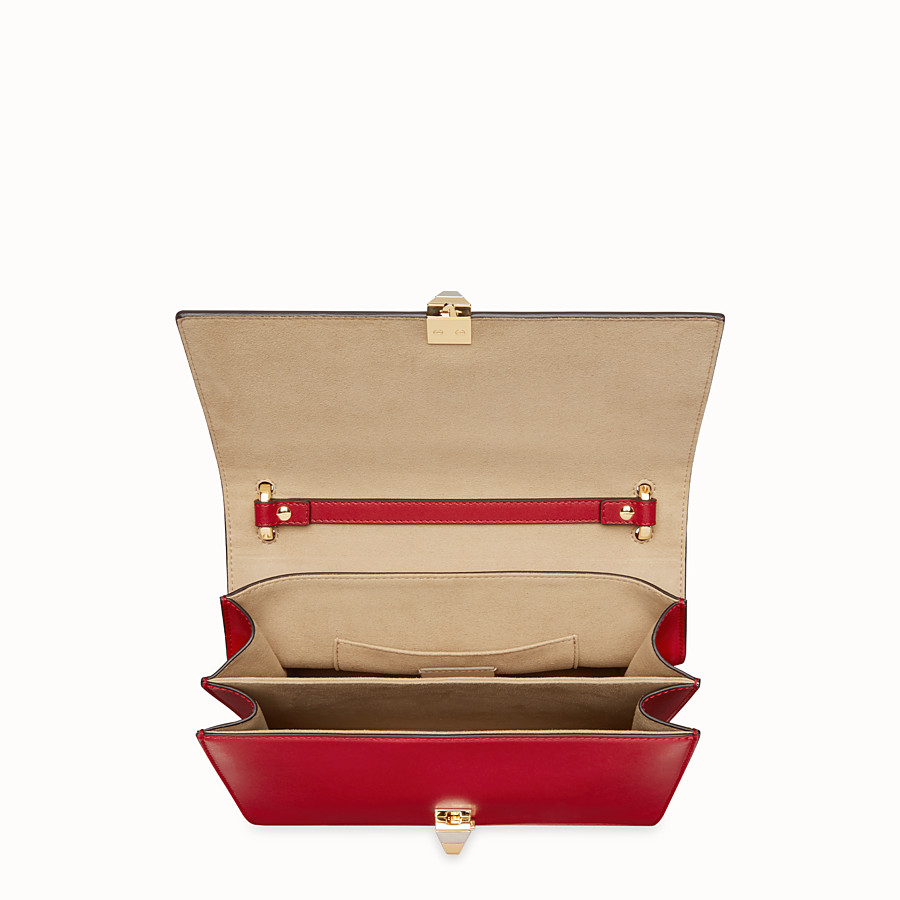 FENDI KAN I - Sac en cuir rouge - view 4 detail