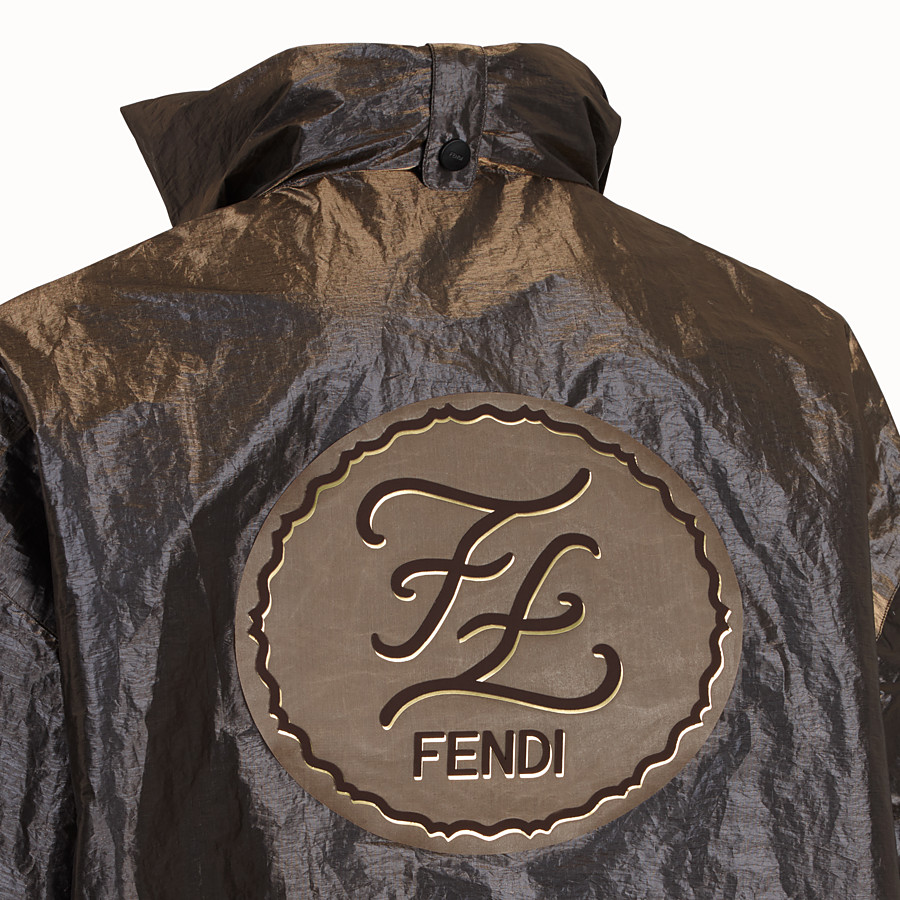 FENDI JACKET - Metallic nylon windbreaker - view 3 detail