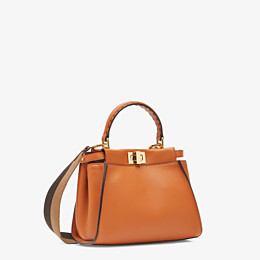 FENDI PEEKABOO ICONIC MINI - Tasche aus Leder in Braun - view 2 thumbnail