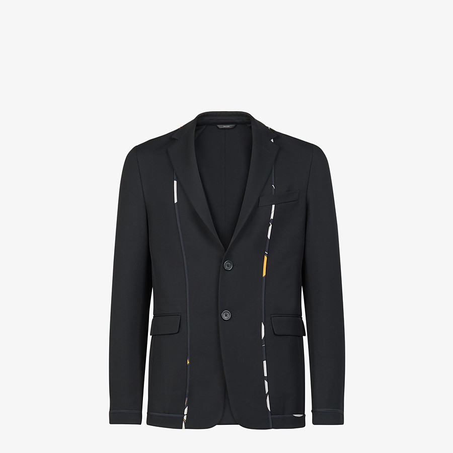 FENDI JACKET - Black twill blazer - view 1 detail
