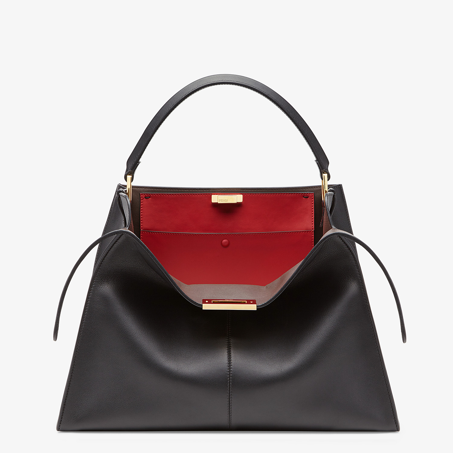 FENDI PEEKABOO X-LITE LARGE - Black leather bag - view 1 detail