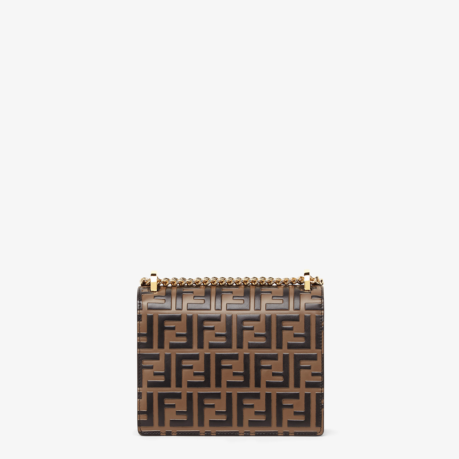 FENDI KAN U SMALL - Brown leather mini-bag - view 3 detail