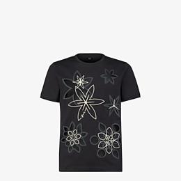 FENDI T-SHIRT - T-Shirt aus leichtem Jersey in Schwarz - view 1 thumbnail