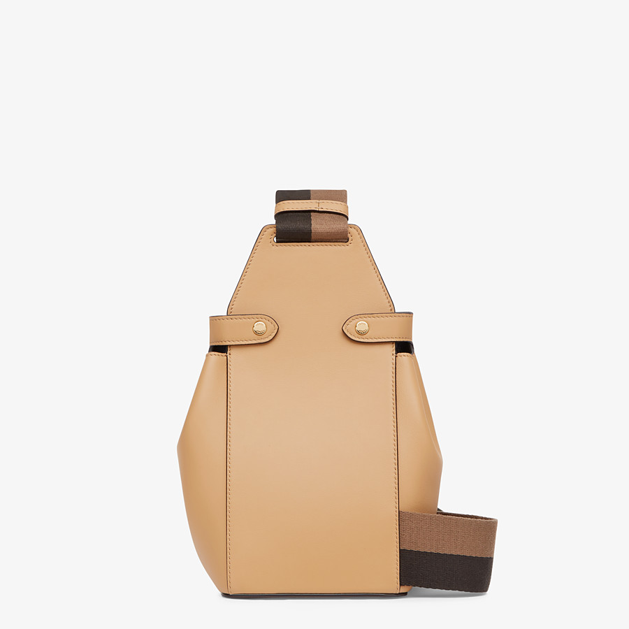 FENDI GUITAR BAG - Beige leather mini-bag - view 4 detail