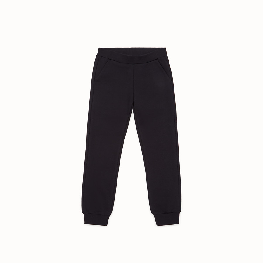 FENDI PANTS - Black cotton trousers - view 1 detail