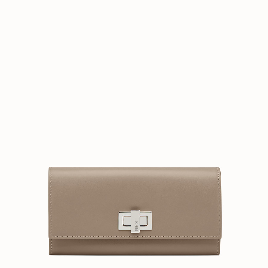 FENDI PEEKABOO CONTINENTAL WALLET - Continental wallet in grey leather - view 1 detail