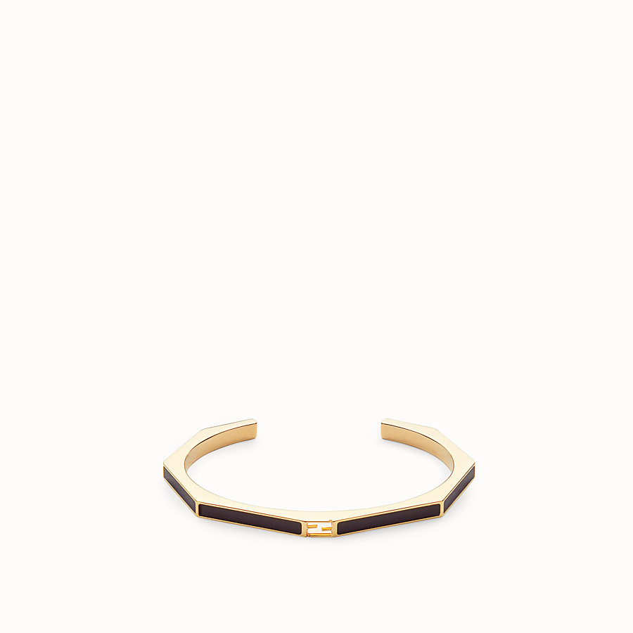 FENDI BAGUETTE BRACELET - Polished black bracelet - view 1 detail
