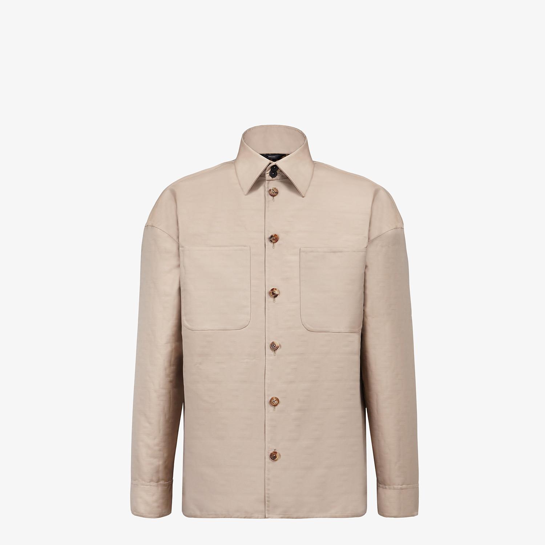 FENDI BLOUSON JACKET - Beige nylon jacket - view 1 detail