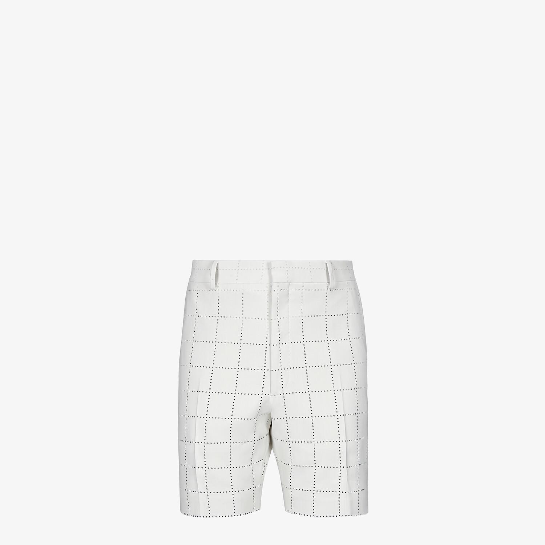 FENDI BERMUDAS - White wool pants - view 1 detail