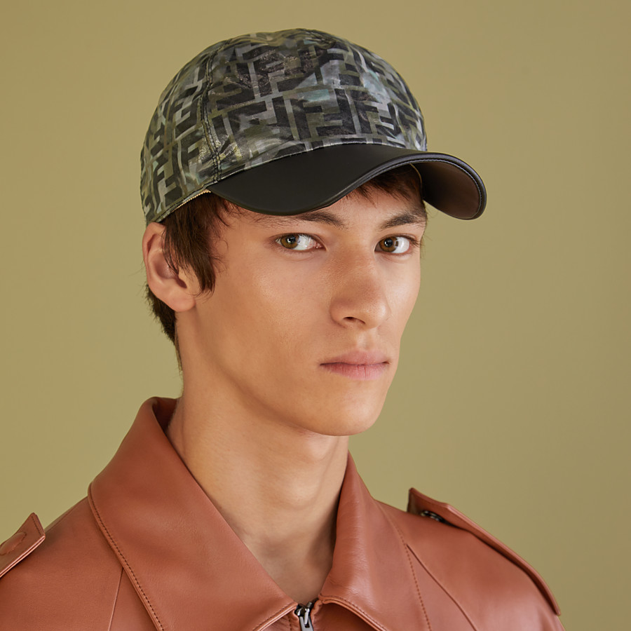 FENDI HAT - Multicolour nylon baseball cap - view 3 detail