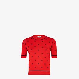 FENDI PULLOVER - Pullover aus Viskose in Rot - view 1 thumbnail