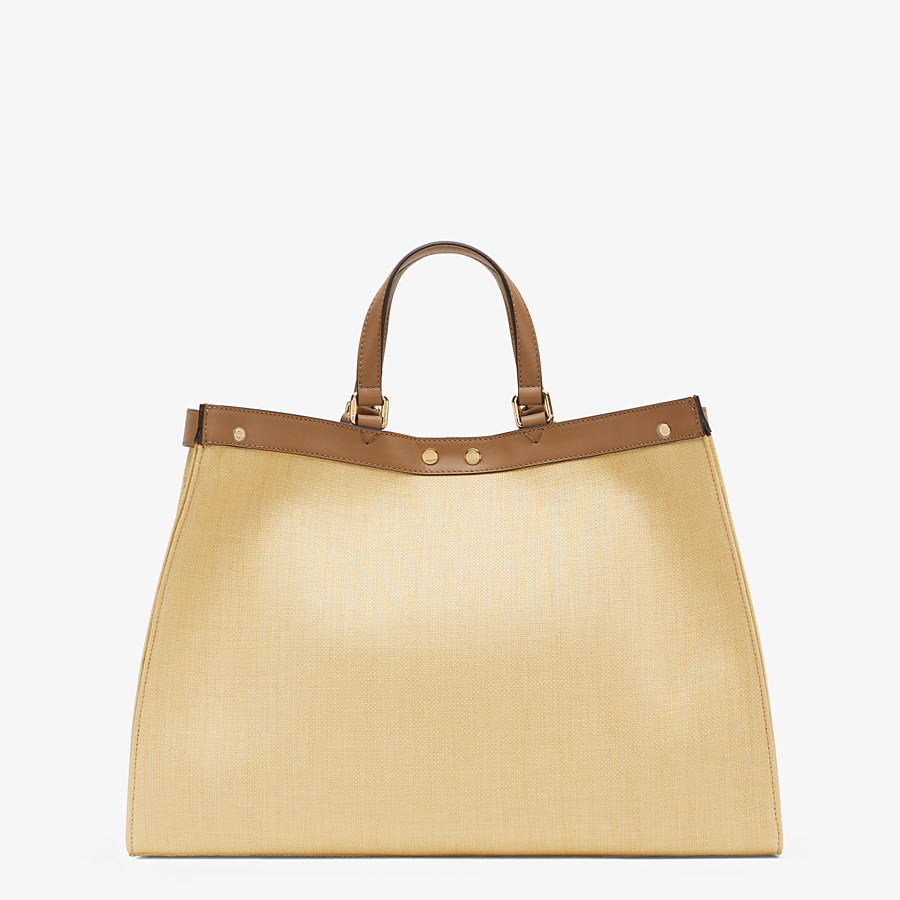 FENDI PEEKABOO X-TOTE - Beige canvas bag - view 4 detail