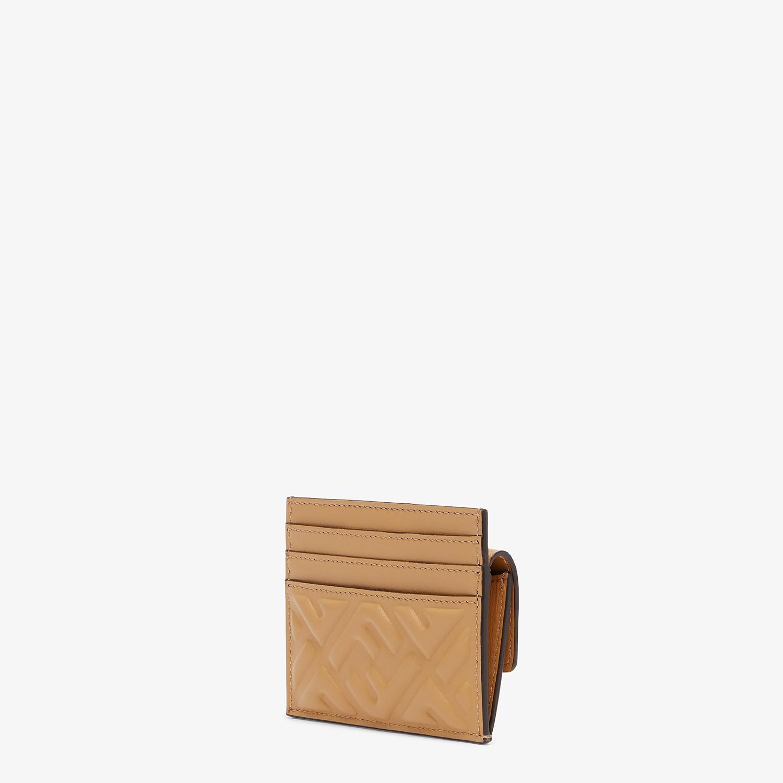 FENDI CARD HOLDER - Beige nappa leather card holder - view 2 detail